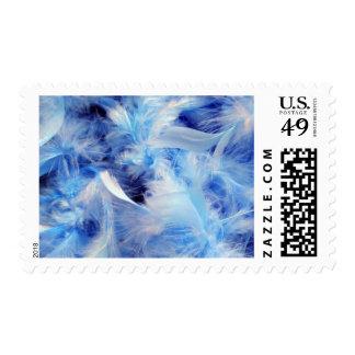 Soft Blue Feather Boa Postage