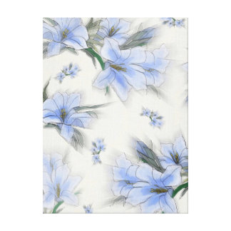 Soft Blue Flower Breeze Canvas Print