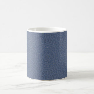 Soft blue fractal pattern design coffee mug