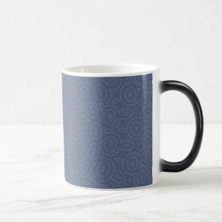 Soft blue fractal pattern design mugs