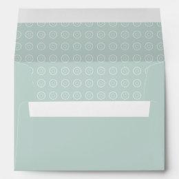 Soft Blue Gray Teal Patterned Envelope