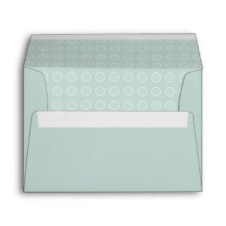Soft Blue Gray Teal Patterned Envelope