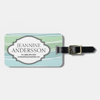 Soft Blue Green Seaglass Color Personalized Tag Luggage Tag