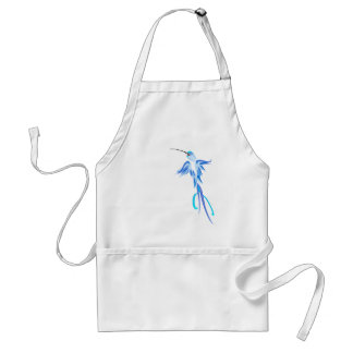 Soft Blue Humming Bird  Aprons