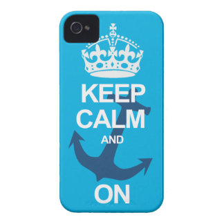 Soft Blue Keep Calm & Carry On Sailng iPhone Case iPhone 4 Case-Mate Cases