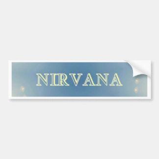 "Soft Blue ""Nirvana"" Lighted Patterns Bumper Sticker"