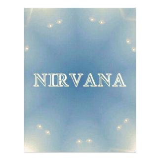 "Soft Blue ""Nirvana"" Lighted Patterns Letterhead"