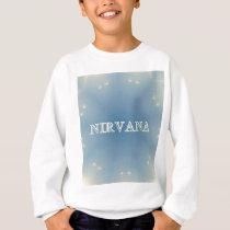 "Soft Blue ""Nirvana"" Lighted Patterns Sweatshirt"
