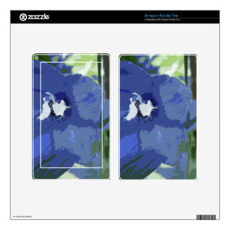 Soft Blue One Skins For Kindle Fire
