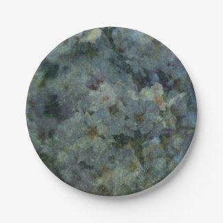 Soft Blue Orchard impressionist paper plates