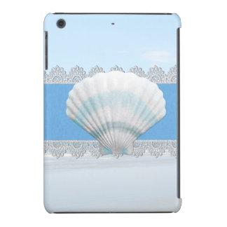 Soft Blue Seashell And Lace iPad Mini Cases