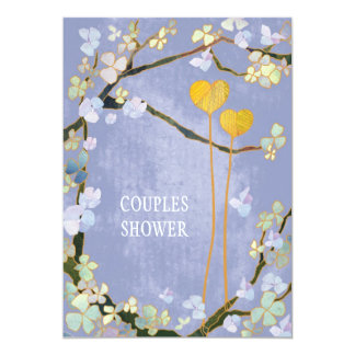Soft Blue Spring Wedding Couples Shower Card