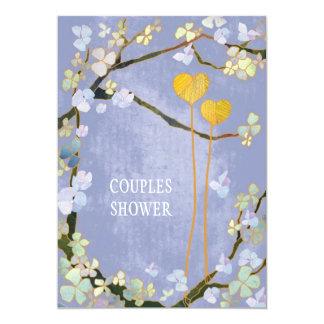 Soft Blue Spring Wedding Couples Shower Card