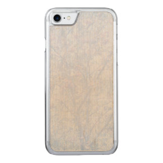 Soft Blue Tint Rowan Pattern Carved iPhone 7 Case