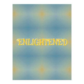 """Soft Blue Yellow Pattern """" Enlightened"""" Zen Letterhead"""