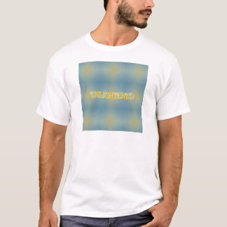 """Soft Blue Yellow Pattern """" Enlightened"""" Zen T-Shirt"""