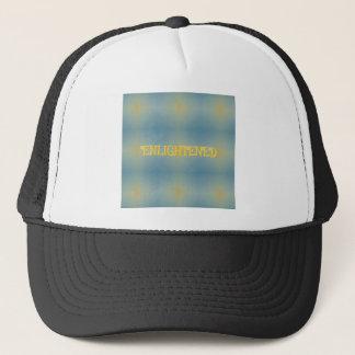 """Soft Blue Yellow Pattern """" Enlightened"""" Zen Trucker Hat"""
