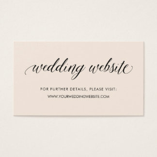Soft Blush and Typography | Wedding Website Insert