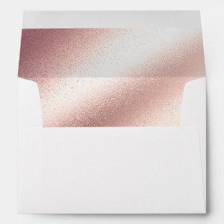 Soft Blush Pink - Rose Gold Foil Glitter Envelope