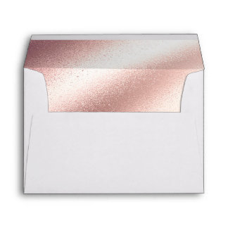 Soft Blush Pink - Rose Gold Foil Glitter Envelope