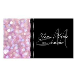 Soft Bokeh Glitter Sparkles Business Cards