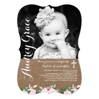 Soft Botanicals  | Baptism Invitation