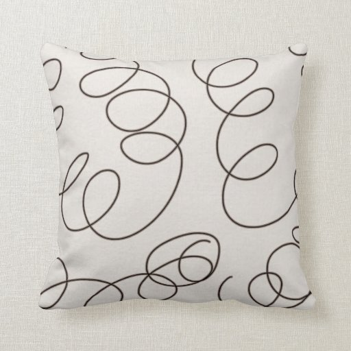 Large Soft Decorative Pillows : soft brown decorative doodle swirls throw pillow Zazzle