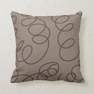 soft brown decorative swirls throw pillows