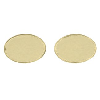 Soft Brushed Gold Gold Finish Cuff Links