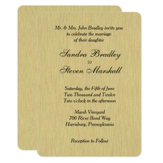 Soft Brushed Gold Wedding Invitation