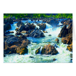 Soft but strong water and love sculpting rock card
