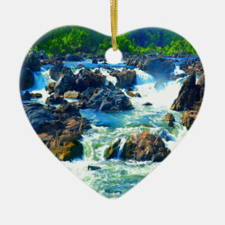 Soft but strong water and love sculpting rock ceramic ornament
