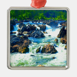 Soft but strong water and love sculpting rock metal ornament