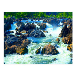 Soft but strong water and love sculpting rock postcard