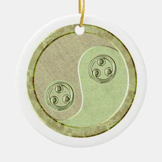 Soft Celadon Green Yin Yang Ornament
