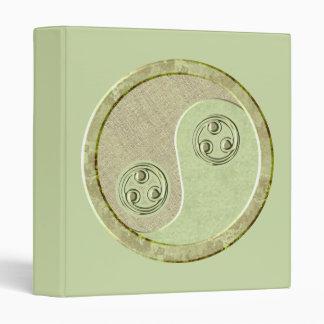 Soft Celadon Yin Yang Binder
