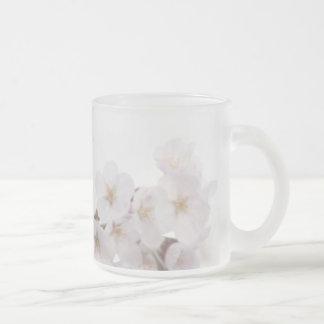 Soft Cherry Blossom Frosted Glass Mug