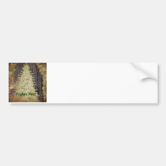 soft Christmas with German Text Car Bumper Sticker