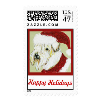 Soft-coated Wheaten Holiday Postage