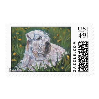soft-coated wheaten postage stamp