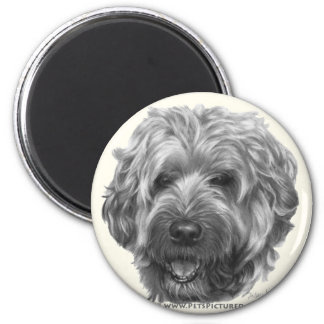 Soft-Coated Wheaten Terrier 2 Inch Round Magnet