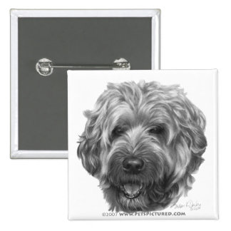 Soft-Coated Wheaten Terrier 2 Inch Square Button