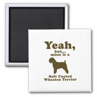 Soft Coated Wheaten Terrier 2 Inch Square Magnet