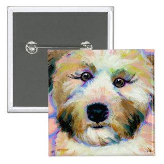 Soft coated wheaten terrier adorable unique art pinback button