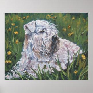 soft-coated wheaten terrier art print