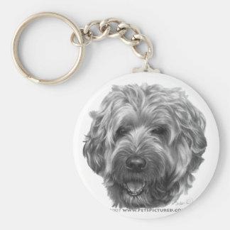 Soft-Coated Wheaten Terrier Basic Round Button Keychain
