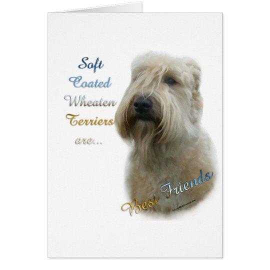 Soft Coated Wheaten Terrier Best Friend 2 Card