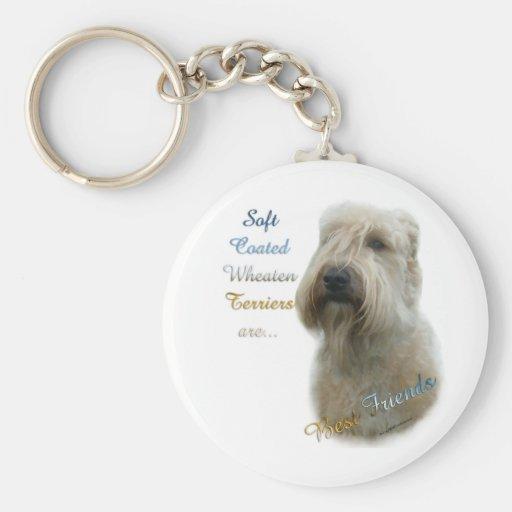 soft Coated Wheaten Terrier Best Friend Keychain