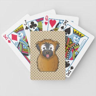 Soft Coated Wheaten Terrier Cartoon Bicycle Card Decks