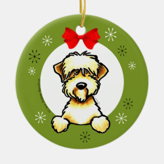 Soft Coated Wheaten Terrier Christmas Classic Ceramic Ornament